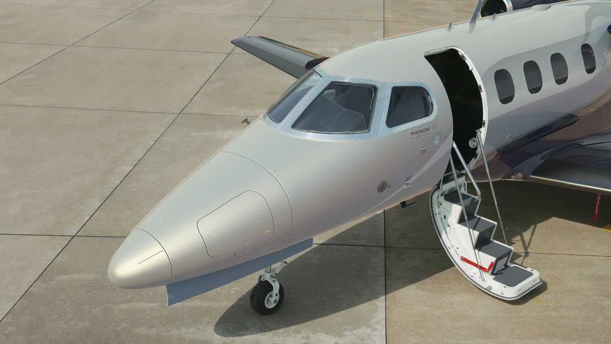 Phenom jets feature full sized air-stair doors.