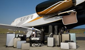 The Phenom 300 offers enormous baggage capacity.