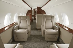The widest and most comfortable jet in its class.